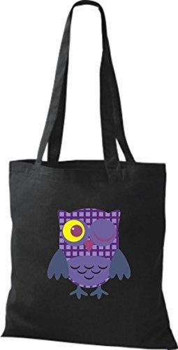 Black Shirtinstyle Cotton For Women Bag Fabric Black nA0qA1vx