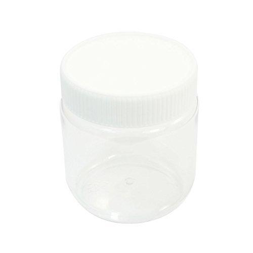 Capacidad 300 ml Botella tarro claro blanco Agentes quí micos Almacenamiento de laboratorio DealMux DLM-B00NQ89G30