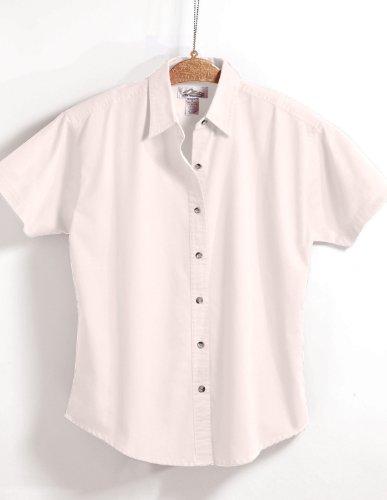 Tri-mountain Womens 60/40 easy care short sleeve twill shirt. 711TM - WHITE_2XL