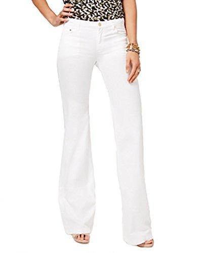 Michael Michael Kors Woman Classic Pant - Michael Kors Wide-Leg Jeans (White, 10)