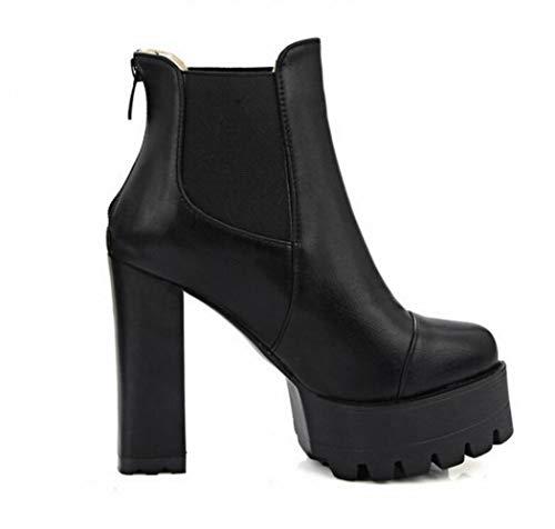 36 Martin Autunno Tallone Super S Women 43 Delle E Inverno Stivali Caldi Xdx Signore Dell'alto spessore 'scarpe stivali Gli Con Scarpe Nero donne' qtRPyxT