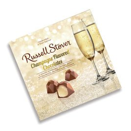 Milk Chocolate Champagne - Russell Stover Champagne Chocolates, 3.7 oz. box