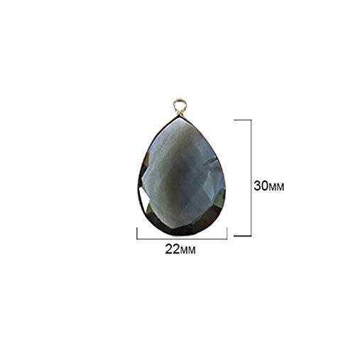 (World's Natural Treasures - London Blue Topaz - London Blue Topaz Stone - London Blue Topaz Beads - London Blue Topaz Pear 22X30 mm Silver Bezel Single - Bezel Silver)