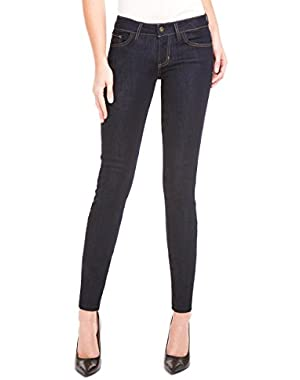 GUESS Womens Power Skinny-Leg Jeans, Dark Wash Silicone 30R