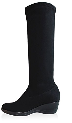 Intaglia Mujeres Calgary Stretch Shaft Bota Black
