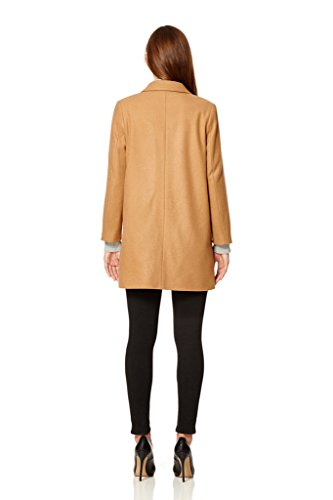 donne Cappotto inverno Crombie Anastasia sottili Cammello di C71Rd5Wq50