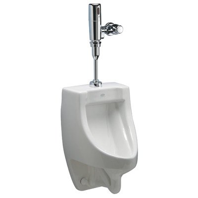 Zurn Z5738.205.00 1-Pint Per Flush High Efficiency Urinal System Top Spud Small Footprint Urinal with Exposed Battery Flush Valve by Zurn