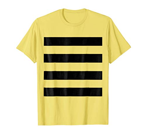 Last Minute Halloween Easy Bee DYI Costume Bumblebee Shirt ()