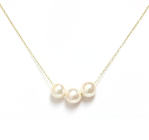 Mikimoto Pearl Pendant (Akoya Pearl Necklace 7.5 - 8 MM 14kt Rose, White Or Yellow Gold chain 16