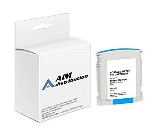 AIM Compatible Replacement for Innovera IVR787D Cyan Postage Meter Inkjet - Compatible to Pitney Bowes 787-D - Generic