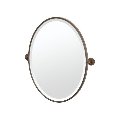Gatco 4499F Montgomery Framed Oval Mirror, (Framed Pivoting Mirror)