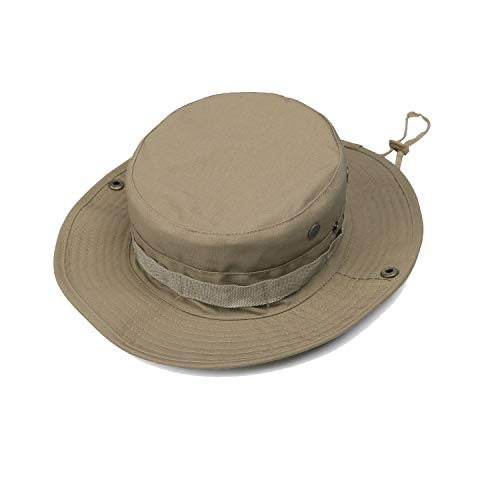 1877c18d3adf8 GreenCity Men Boonie Jungle Camo Hat Military Ripstop Breathable Headwear  Bucket Sun Hat with Chin Strap