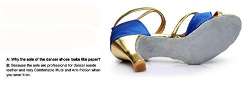 Zapatos de Tacón de de Zapatos Adulta YOGLY Para de Baile Salón Latino Estándar Baile Alto Azul B Baile Mujeres gqxdw0