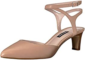 Nine West Women's ABANDER Leather Pump, Light Natural, 5.5 UK
