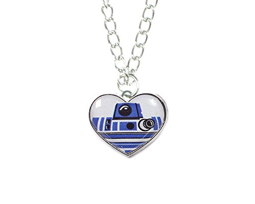 Disney Star Wars R2-D2 Heart Necklace (Star Wars Imperial Necklace compare prices)
