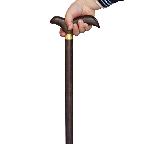 Crutches Solid Wood Ebony Walking Stick Old Man Walking Stick Wooden cane Sport Crutch Hand-Carved by jiaminmin