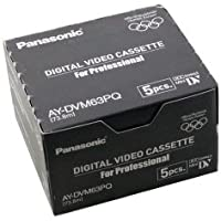 Panasonic AY-DVM63PQ Professional Quality MiniDV 63min Data Tape Cartridge 5 Packs