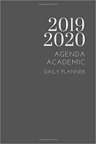 2019 2020 Agenda Academic Daily Planner: Small Mini Calendar ...