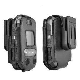 OEM Verizon Samsung Convoy U640 Black Leather Fitted (Oem Black Phone Case)