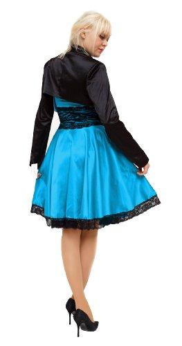 Donna Corsetto Vestito Turchese Maniche Young fashion Lunghe HX8wqXxBE