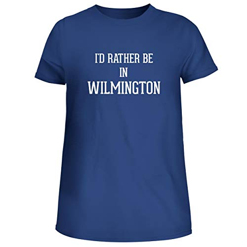 BH Cool Designs I'd Rather Be in Wilmington - Cute Women's Junior Graphic Tee, Blue, XX-Large