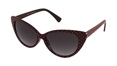 MJ Eyewear Black Cat Eye Women Sunglasses Vintage Fashion (POLKA DOT BLACK/PINK, - Bp Sunglasses