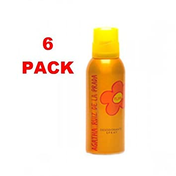 Flor by Agatha Ruiz de la Prada Desodorante Spray Mujer 150 ml. Pack of 6: Amazon.es: Belleza