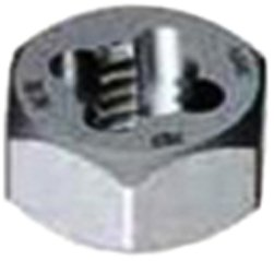 Gyros 92-91217 Metric Carbon Steel Hex Rethreading Die, 12mm x 1.75 Pitch by Gyros Tools