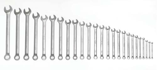 Satin Chrome Finish 25-Piece JH Williams Tool Group Williams 11016 Wrench Set 6-32mm