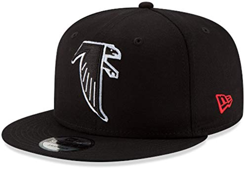 New Era Atlanta Falcons Hat NFL Black Team Color Historic Logo 9FIFTY Snapback Adjustable Cap Adult One Size : OSFM