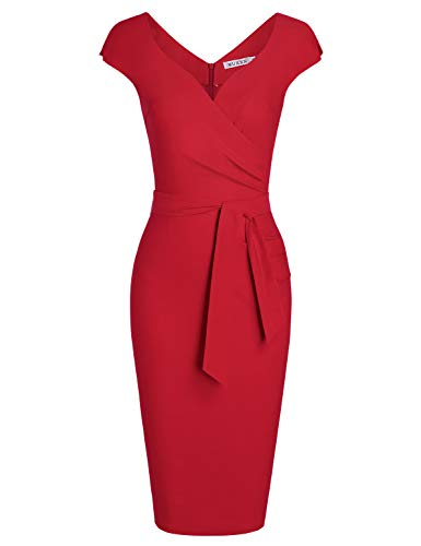 MUXXN-Womens-Vintage-1950s-Style-Wrap-V-Neck-Tie-Waist-Formal-Cocktail-Dress