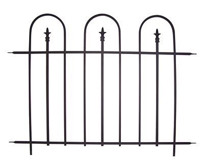 Panacea Triple Arch Garden Fence Sections, 48''W