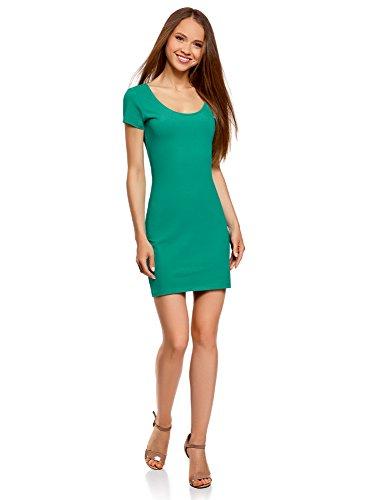 oodji Ultra Femme Robe Moulante en Maille Vert (6d00n)