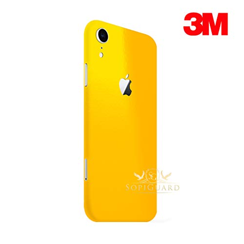 (SopiGuard Skin for Apple iPhone XR Precision Edge-to-Edge Vinyl Sticker (3M Gloss Yellow))