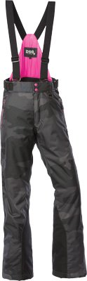 Divas SnowGear 97226 Craze Womens Bibs/Pants , Distinct Name: Camo/Pink, Gender: Womens, Primary Color: Gray, Size: Lg