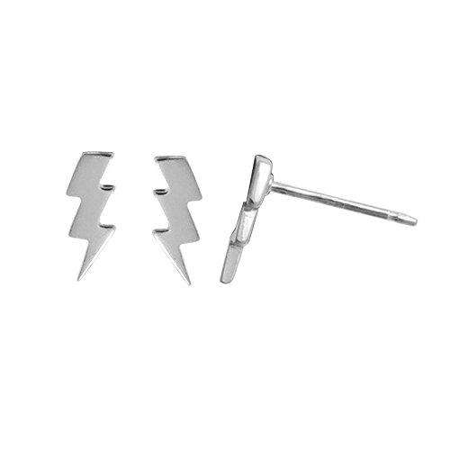 Sterling Silver Lighting Bolt - Boma Jewelry Sterling Silver Lightning Bolt Stud Earrings
