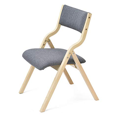 XINGPING Home Chair Simple Modern Chair Back Desk Chair Dining Chair Chair Nordic Adult Wooden Folding Chair (Color : Twilight ash)