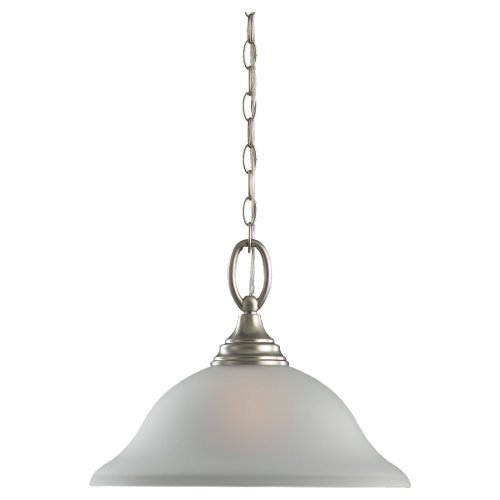 Sea Gull Lighting 31808-962 Chandelier with Satin Etchedlass Shades, Brushed Nickel Finish by Sea Gull Lighting [並行輸入品] B018A3VTN0