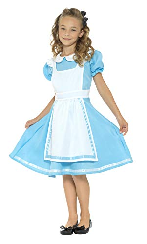 Smiffy's Girls Dreamland Alice Costume, Blue, Medium