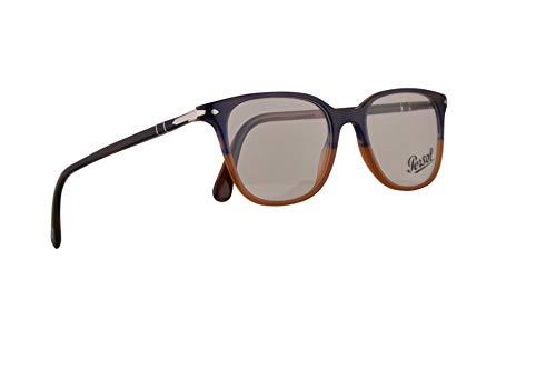Persol PO3203V Eyeglasses 53-18-145 Stripped Blue Gradient Orange w/Demo Clear Lens 1066 PO 3203V PO 3203-V PO3203-V