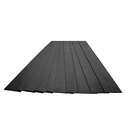 """Architectural Products by Outwater 10 Pack of Ebony All Wood Wall Planks 46-1/2"""" Long x 5-1/8"""" Wide x 3/16"""" Thick -"""