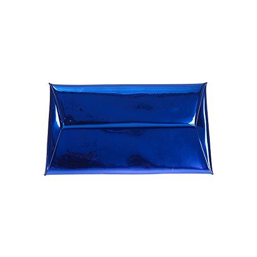 métalliques Pochette Markfran reflets envelope à Femme Marine Bleu wrCdwOv