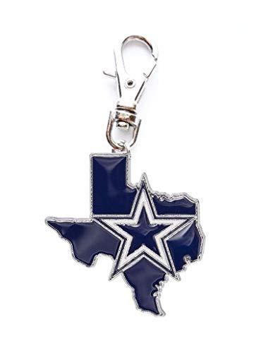 Heavens Jewelry Dallas Cowboys Football State Team Charm ADD to Zipper Pull PET Dog CAT Collar Leash Keychain ETC