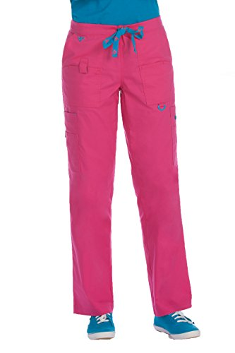 Med Couture Women's Rescue Scrub Pant, Azalea/Harbor Blue, XX-Large from Med Couture
