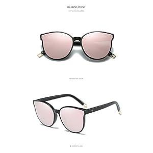 Future fashion Women Colour Luxury Flat Top Cat Eye Sunglasses Alloy Frame UV400