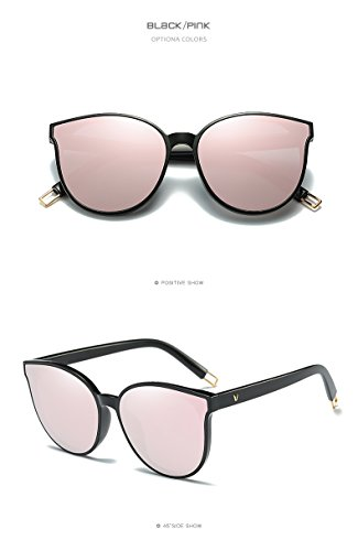 Future fashion Women Colour Luxury Flat Top Cat Eye Sunglasses Alloy Frame - Blue Sunglasses Cartier