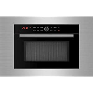 5 in 1 Oven, Built in Convection Microwave Oven with 30″ Stainless Steel Trim Kit