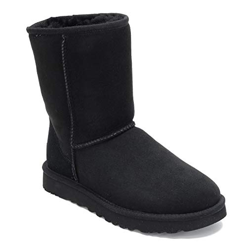 UGG Women's, Classic Short II Tasman Braid Boot Black 8 M (Sale Short Ugg)