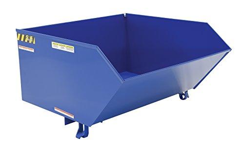 Vestil H-100-HD Low Profile Heavy Duty 90 Degree Self-Dumping Hopper, Steel, Overall W x L x H (in.) 51 x 51-1/4 x 28-3/16, Front Lip to Floor (in.) 20-5/8 6000 lbs Capacity (Hopper Self Vestil Dumping)