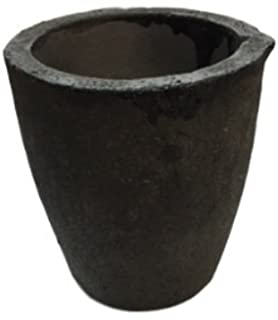 Zevipe 1KG Foundry Clay Graphite Crucible Cup Furance Torch Melting Metal Casting Refining Copper Siliver Gold